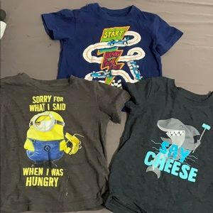 Three T-shirt's